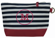 Personalized All In Pouch, Navy and White Stripe