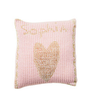 Pillow, Personalized Metallic Heart