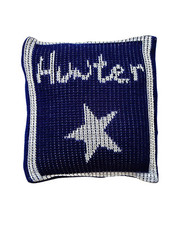 Pillow, Personalized Metallic with Star