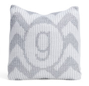 Pillow, Metallic Personalized Chevron