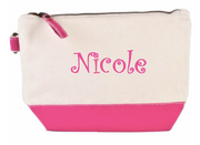 Personalized All In Pouch, Hot Pink