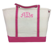 Personalized Classic Tote Bag, Hot Pink