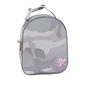 Gumdrop Lunch Bag, Personalized Grey Camo Seersucker