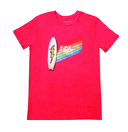 Californian Vintage, Red Surf Board Tee