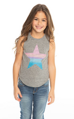 Chaser, Vintage Tank with Striped Star