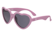 Children's Sunglasses, Aviators in Light Pink Heart, Size 3-7+ years