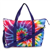 Tote Bag, Navy and Pink Tie Dye