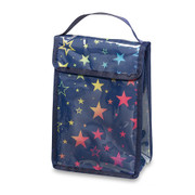 Lunch Bag, Navy with Hearts