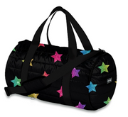 Duffle Bag, Black Puffer with Stars