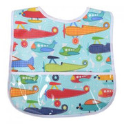 Laminated Food Bibs, Airplanes
