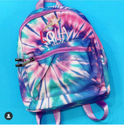 Mini Backpack, Lilac Tie Dye Canvas