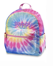 Mini Backpack, Pastel Pink Tie Dye Canvas