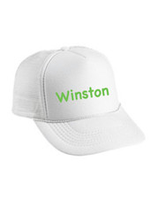 Personalized Kids Trucker Hat, All White