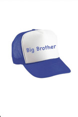 Personalized Kids Trucker Hat, White and Royal Blue