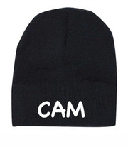 Personalized Kids Beanie Hat, Black