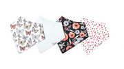 Bandana Butterfly Bib Set of 4, Personalized