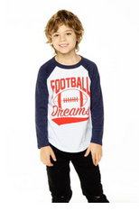 Chaser, Football Dreams White and Blue Triblend Raglan