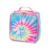 Lunch Box, Pastel Pink Tie Dye Canvas