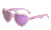 Children's Sunglasses, Polarized Pink Heart, Size 3-7+ years