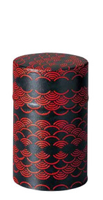 Kamakurabori Red Wave Canister