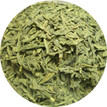 Organic Matcha Iri Sencha green tea in close up