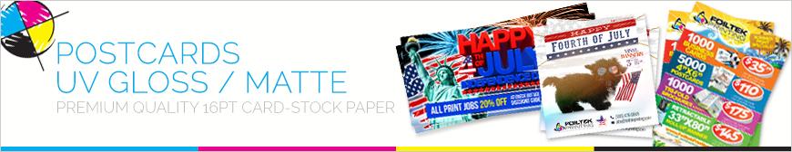 Postcards UV Gloss Full Color Printing