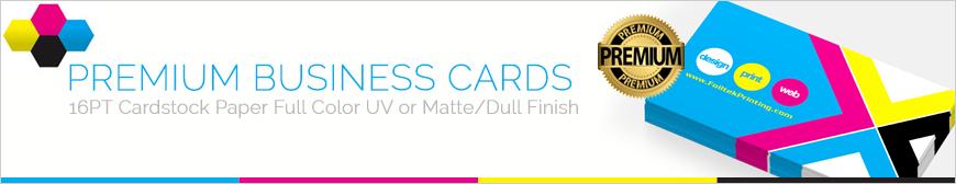 16pt Premium Business Cards UV Coated Matte/Dull Finish