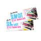 2017 Slim Cut Business Cards, Foil Stamping, Full Color Foil, UV Coated, Matte, Silk Laminated Finish, 16pt Card-Stock