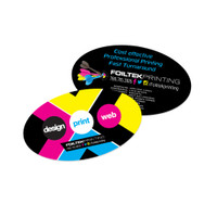 Oval Shape Business Cards, Full Color Front and Back with UV Coating or Matte/Dull Finish