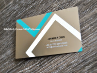 Metal Business Cards Steel Finish