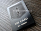 Metal Business Cards Matte Black Finish