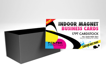 "2"" x 3.5"" Indoor Business Card Magnet with UV Coating, on 17pt, Full Color + Round Corners available!"