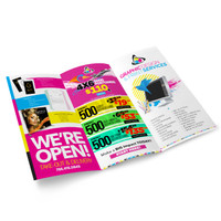 "Tri-Fold Brochure Half-Page (8.5"" x 5.5"")"