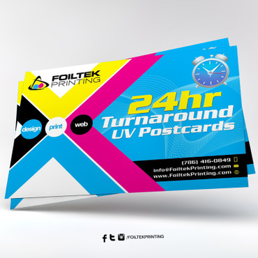 Print Postcards Next Day Turnaround - Full Color UV Coated Front and Back