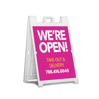 "Sidewalk Sign Large Frame w/ 24"" x 36"" Full Color Prints"
