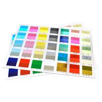2X2 Square Multi Color Foil Postcards