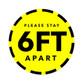Floor Sticker 6ft Appart