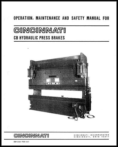 Komatsu Press Brake Operation manual