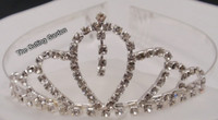 Silver and Crystal Wedding Tiara - Queen of Diamonds