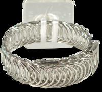 Floral Corsage Bracelet - Harmony Flower Cuff - Silver