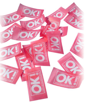 Custom printed confetti tissue