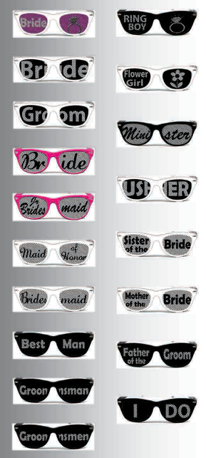 Bridal Party Package Sunglasses
