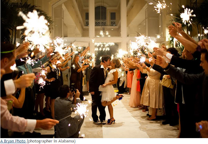 Wedding Sparklers Arch