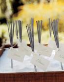 Sparklers make fun wedding favors.