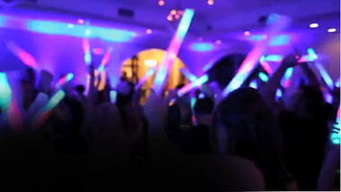Wedding customized LED foam sticks add pizzazz to your wedding reception.