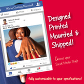 Social Media Poster Board, Frame Cutout, Photo Prop