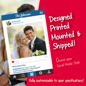 Wedding Social Media Poster Board, Frame Cutout, Photo Prop