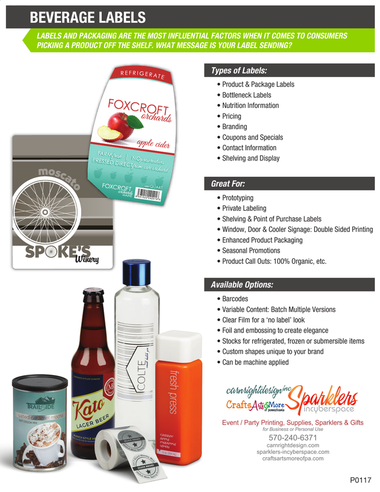Download & print flyer for beverage label products.