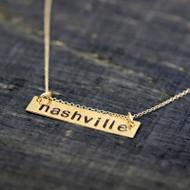 Handstamped City Necklace