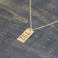 Area Code Necklace